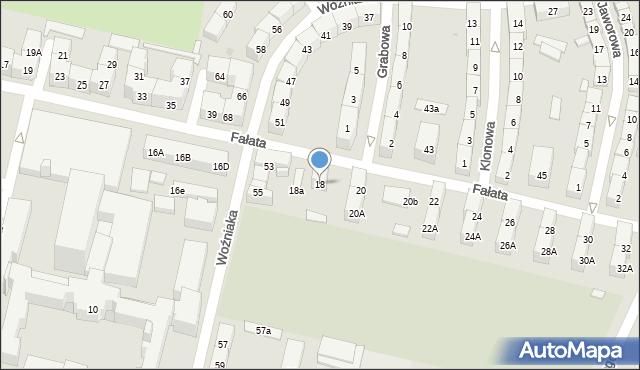 Bytom, Fałata Juliana, 18, mapa Bytomia