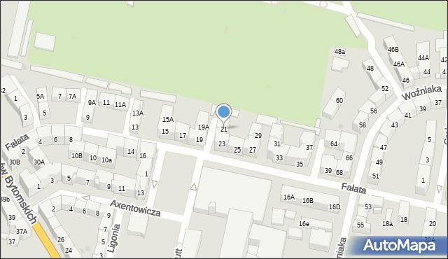 Bytom, Fałata Juliana, 21, mapa Bytomia