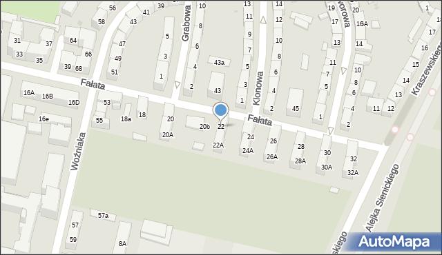 Bytom, Fałata Juliana, 22, mapa Bytomia