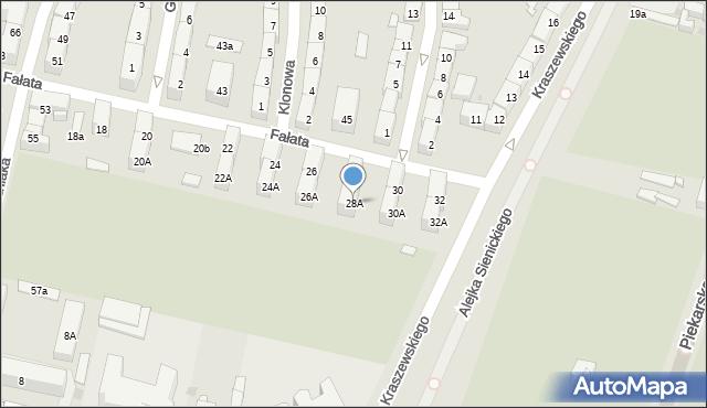 Bytom, Fałata Juliana, 28A, mapa Bytomia