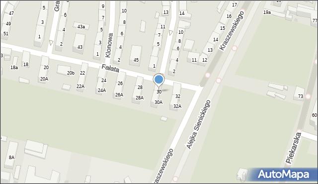 Bytom, Fałata Juliana, 30, mapa Bytomia