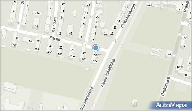 Bytom, Fałata Juliana, 32, mapa Bytomia