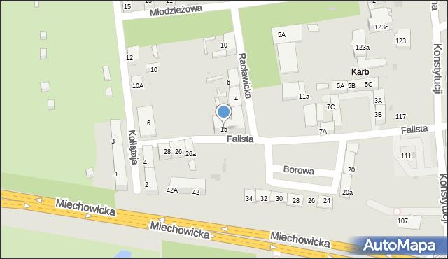 Bytom, Falista, 15, mapa Bytomia