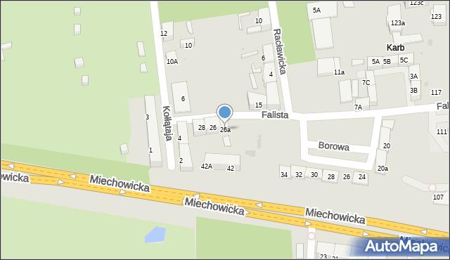 Bytom, Falista, 26a, mapa Bytomia