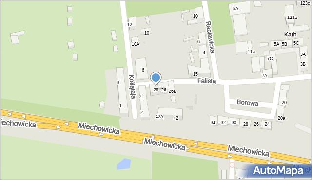 Bytom, Falista, 28, mapa Bytomia