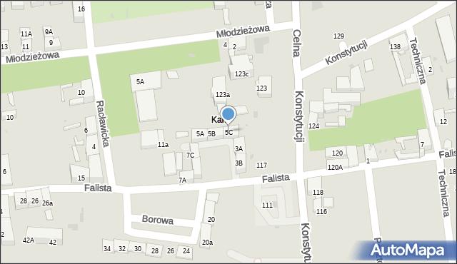 Bytom, Falista, 5C, mapa Bytomia