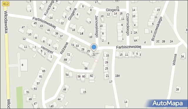 Chełm, Farbiszewskiej Zofii, 21, mapa Chełma