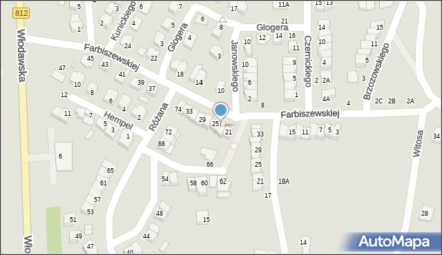 Chełm, Farbiszewskiej Zofii, 23, mapa Chełma