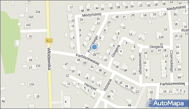 Chełm, Farbiszewskiej Zofii, 24, mapa Chełma
