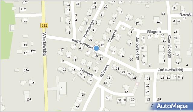 Chełm, Farbiszewskiej Zofii, 39, mapa Chełma