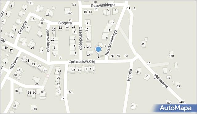 Chełm, Farbiszewskiej Zofii, 4, mapa Chełma