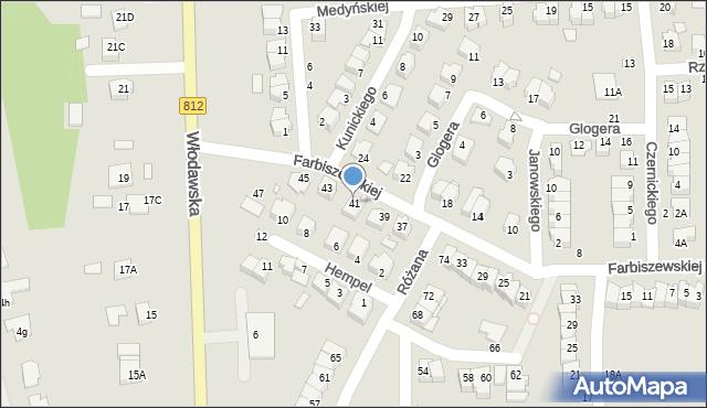 Chełm, Farbiszewskiej Zofii, 41, mapa Chełma