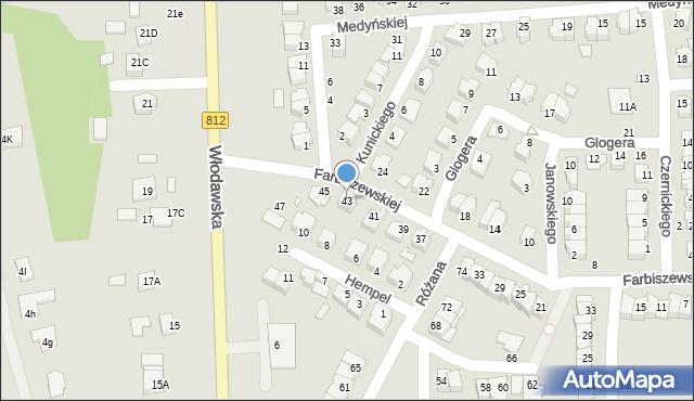 Chełm, Farbiszewskiej Zofii, 43, mapa Chełma