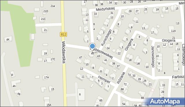 Chełm, Farbiszewskiej Zofii, 45, mapa Chełma