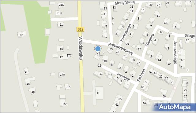 Chełm, Farbiszewskiej Zofii, 49/51, mapa Chełma