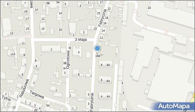 Chocianów, Fabryczna, 10a, mapa Chocianów