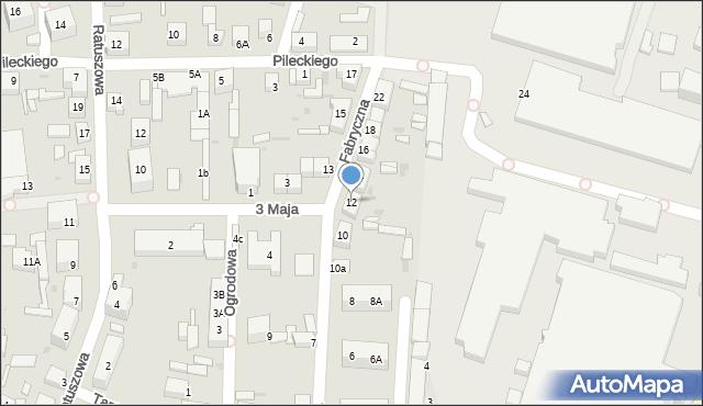 Chocianów, Fabryczna, 12, mapa Chocianów