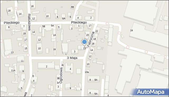 Chocianów, Fabryczna, 13, mapa Chocianów