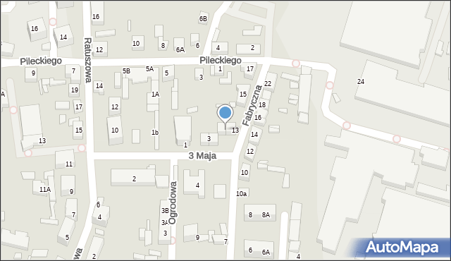 Chocianów, Fabryczna, 13a, mapa Chocianów