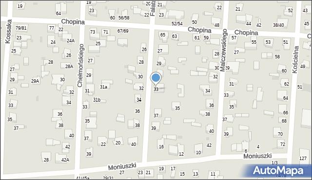 Częstochowa, Fałata Juliana, 33, mapa Częstochowy
