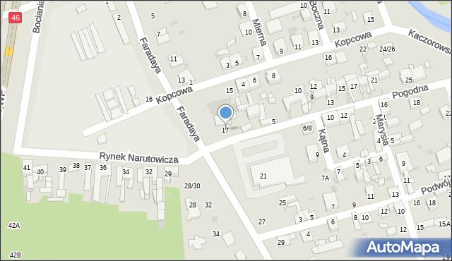Częstochowa, Faradaya, 17, mapa Częstochowy