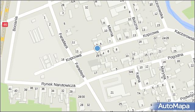 Częstochowa, Faradaya Michaela, 15, mapa Częstochowy