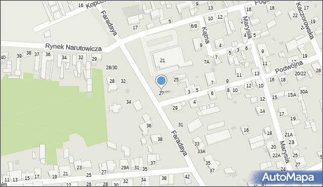 Częstochowa, Faradaya Michaela, 27, mapa Częstochowy