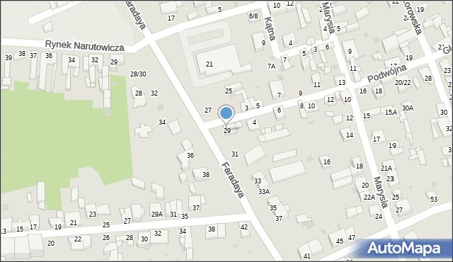Częstochowa, Faradaya Michaela, 29, mapa Częstochowy