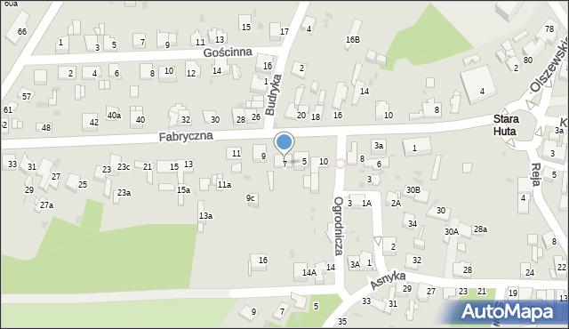 Jaworzno, Fabryczna, 7, mapa Jaworzno