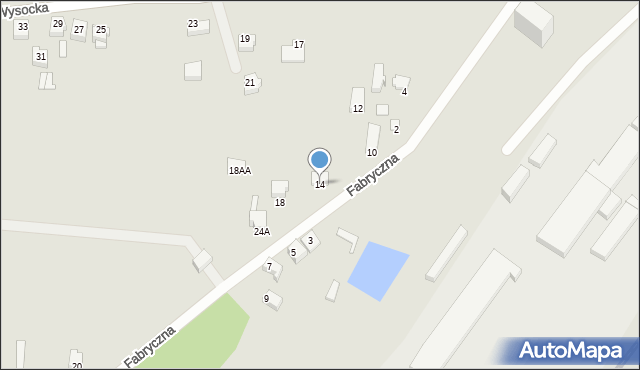 Łazy, Fabryczna, 14, mapa Łazy