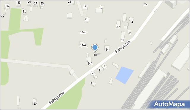Łazy, Fabryczna, 18, mapa Łazy