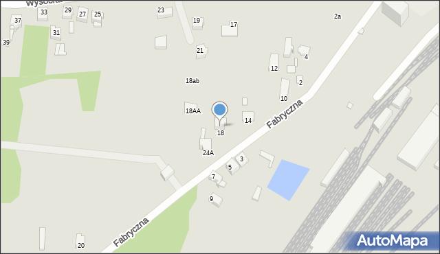 Łazy, Fabryczna, 18a, mapa Łazy