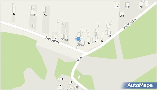 Łazy, Fabryczna, 46, mapa Łazy