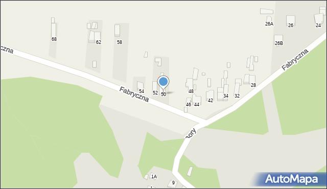 Łazy, Fabryczna, 50, mapa Łazy