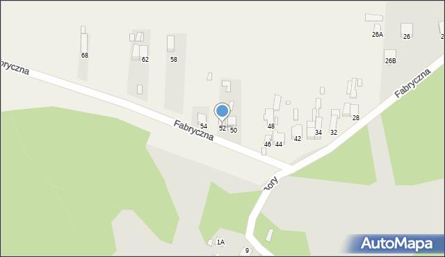 Łazy, Fabryczna, 52, mapa Łazy
