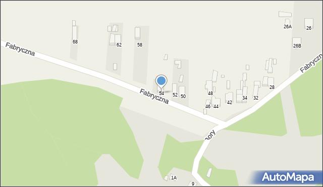Łazy, Fabryczna, 54, mapa Łazy