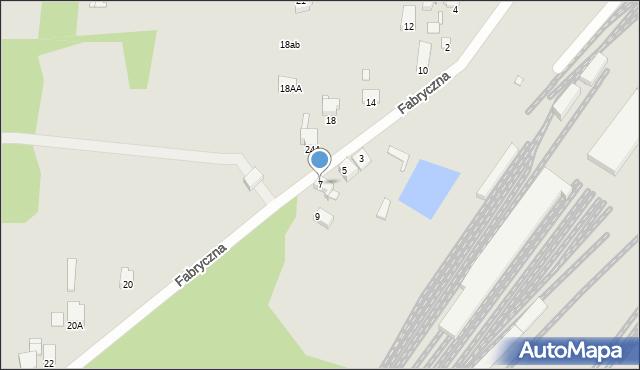 Łazy, Fabryczna, 7, mapa Łazy
