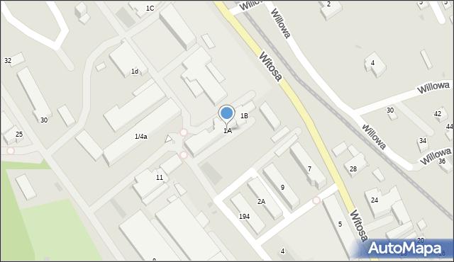 Limanowa, Fabryczna, 1A, mapa Limanowa