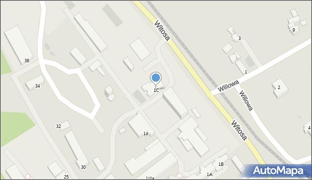 Limanowa, Fabryczna, 1C, mapa Limanowa