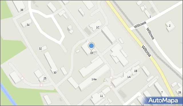 Limanowa, Fabryczna, 1d, mapa Limanowa