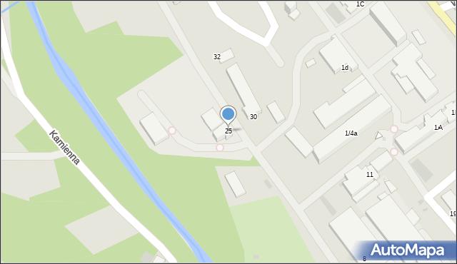 Limanowa, Fabryczna, 25, mapa Limanowa