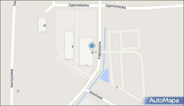 Polkowice, Fabryczna, 4, mapa Polkowice