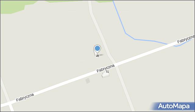 Przemyśl, Fabryczna, 46, mapa Przemyśla