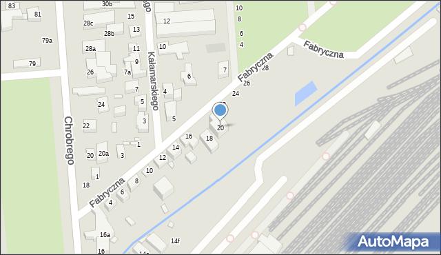 Toruń, Fabryczna, 20, mapa Torunia