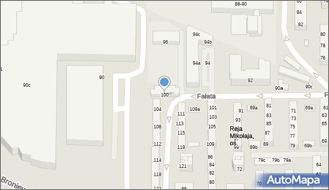Toruń, Fałata Juliana, 100, mapa Torunia
