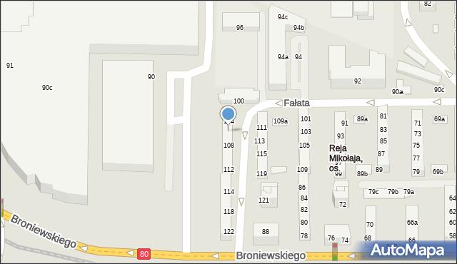 Toruń, Fałata Juliana, 106, mapa Torunia