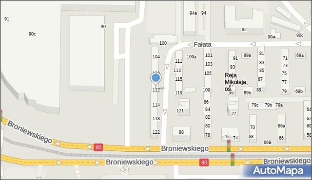 Toruń, Fałata Juliana, 112, mapa Torunia