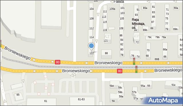 Toruń, Fałata Juliana, 122, mapa Torunia