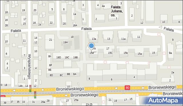 Toruń, Fałata Juliana, 15d, mapa Torunia