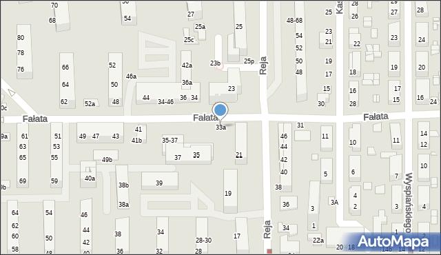 Toruń, Fałata Juliana, 33a, mapa Torunia
